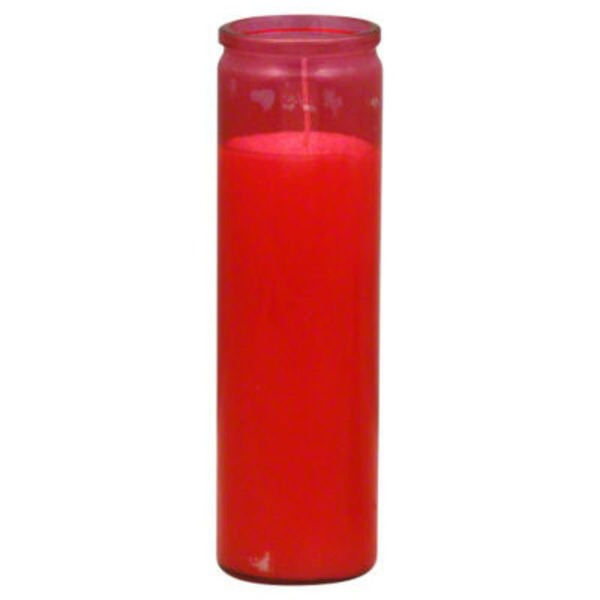 Reed Candle Company Red Glass Religious Candle