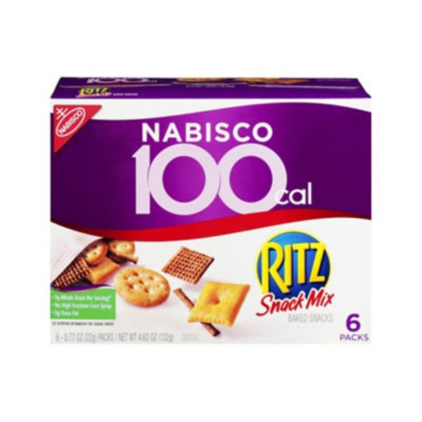 Nabisco 100 Calorie Packs Ritz Snack Mix 0.77 oz Packs Baked Snacks