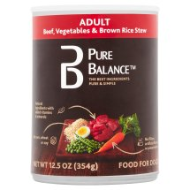 Pure Balance Canned Beef Vegetables & Brown Rice Wet Dog Food, 12.5 Oz