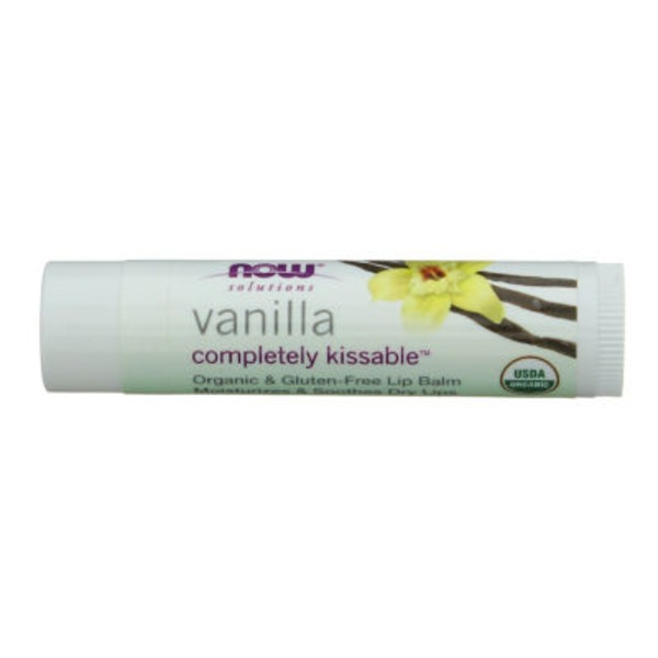 Now Solutions Completely Kissable Gluten Free Vanilla Lip Balm