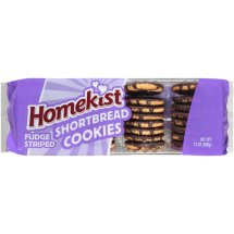 Homekist Fudge Striped Shortbread Cookies, 13 oz