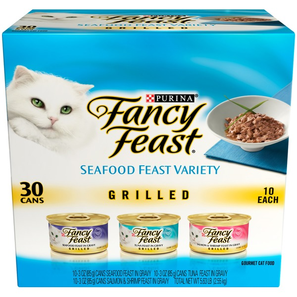 Fancy Feast Wet Grilled Seafood Feast Collection Cat Food