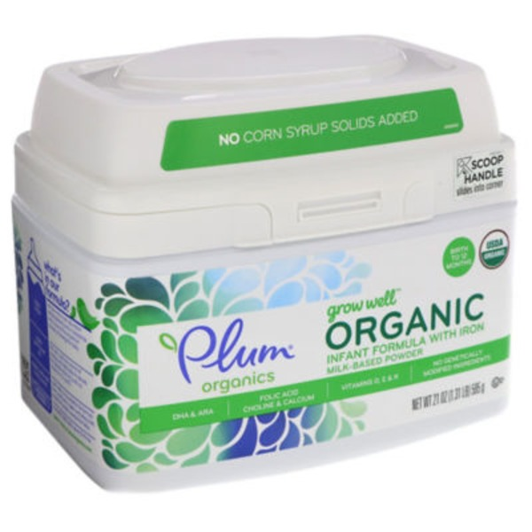Plum Organics Grow Well Organic with Iron Milk-Based Powder Infant Formula
