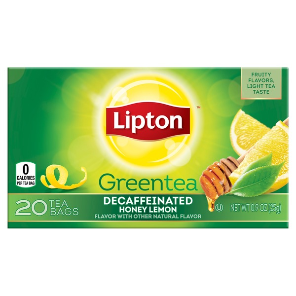 Lipton Decaffeinated Honey Lemon Green Tea Bags