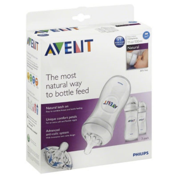 Avent Philips Avent BPA Free Natural Polypropylene Bottles,
