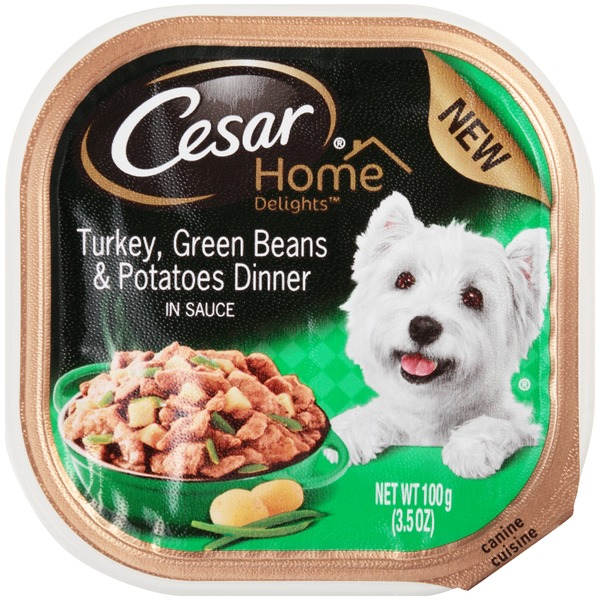 Cesar Home Delights Canine Cuisine Turkey Green Beans & Potatoes Dinner Wet Dog Food