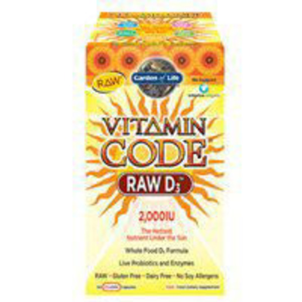 Garden of Life Vitamin Code Raw D3 Vitamin Supplement
