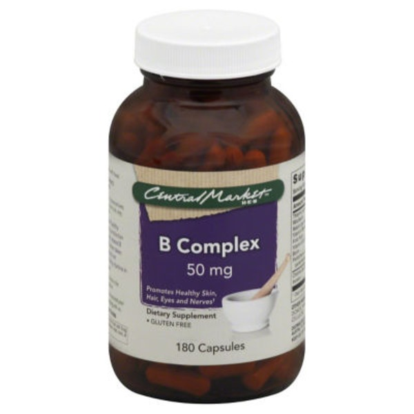 Central Market Gluten Free 50 mg B Complex Dietary Supplement