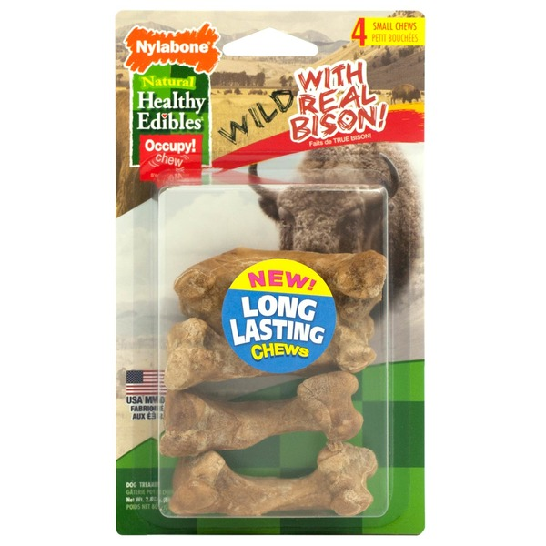 Nylabone Healthy Edibles Wild Bison 4 Pack Small