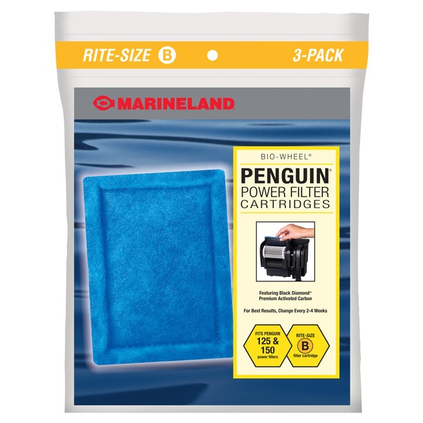 Marineland Rite Size Bonded Filter Sleeve Three Pack For Penguin 150/125 Power Filters