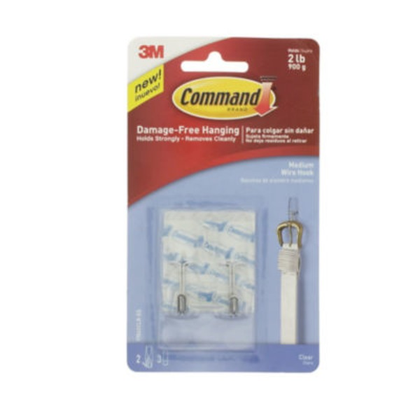 3M Command Medium Clear Wire Hooks