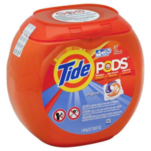 Tide PODS HE Turbo Laundry Detergent Pacs, Original Scent, 57 count Laundry