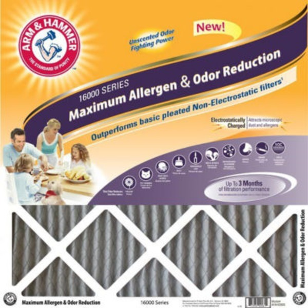 Arm & Hammer Max Odor Home Air Filter 16 x 25 x 1