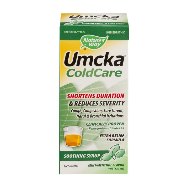 Nature's Way Umcka ColdCare Soothing Syrup Mint-Menthol Flavor