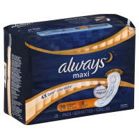 Always Maxi Overnight Without Wings Toallas Pads