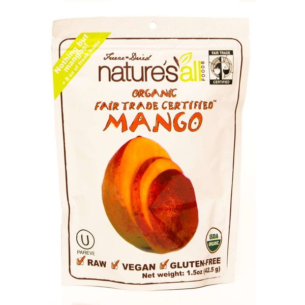Natierra Freeze-Dried Nature's All Foods Organic Mangos