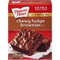 Duncan Hines Chewy Fudge Family Size Brownie Mix