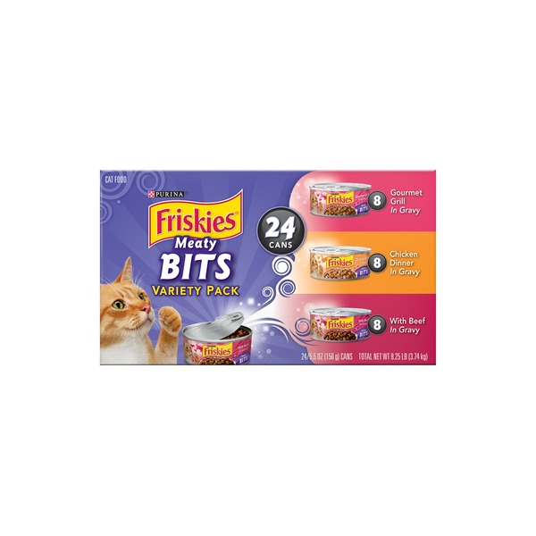 Friskies Meaty Bits Variety Pack Cat Food
