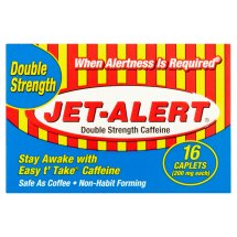 Jet-Alert Double Strength Caffeine Caplets, 200 mg, 16 count