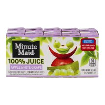 Minute Maid 100% Fruit Juice, Apple White Grape, 6 Fl Oz, 10 Count