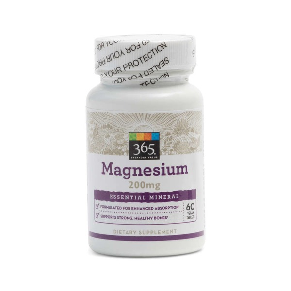 Whole Foods Market Magnesium Chelate Tablets 200 mg