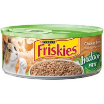 Purina Friskies Indoor Pate Chicken Dinner with Garden Greens Cat Food 5.5 oz. Can