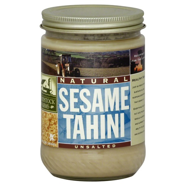 Woodstock Farms Sesame Tahini, Natural, Unsalted