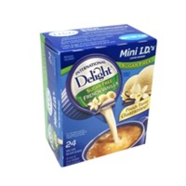 International Delight Coffee Creamer, French Vanilla, Sugar Free, Single Serve