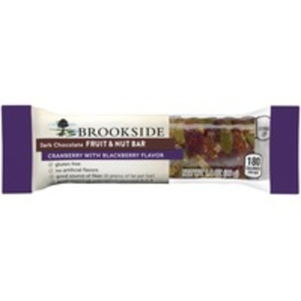 Brookside Cranberry with Blackberry Flavor Dark Chocolate Fruit & Nut Bar