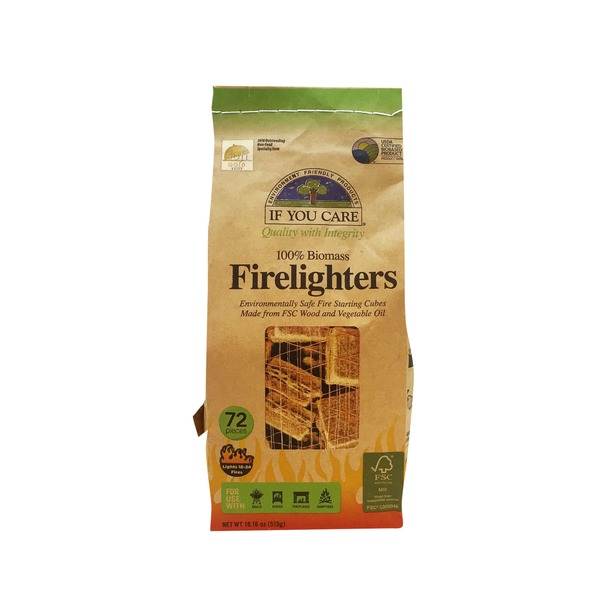 If You Care 100% Biomass Firelighters
