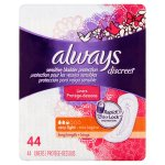 Always Discreet Bladder Protection Liners, Very Light, Long, 44 ct