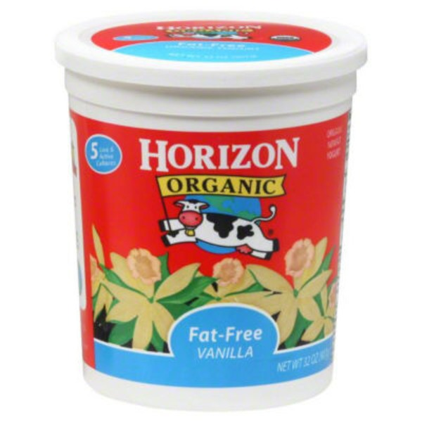 Horizon Organic Fat Free Vanilla Yogurt