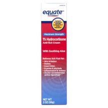 Equate Maximum Strength 1% Hydrocortisone With Aloe Cream, 2 Oz