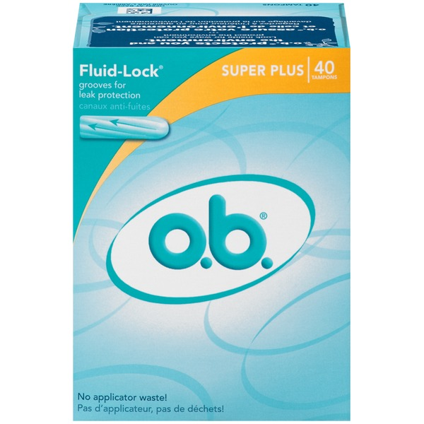 O.B. Fluid-Lock Super Plus Tampons