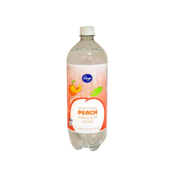 Kroger Peach Sparkling Water Beverage