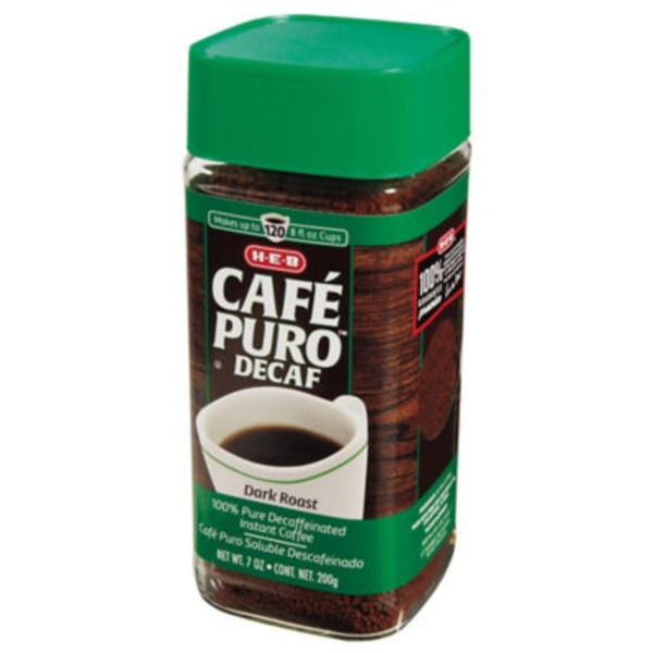 H-E-B Cafe Puro Instant Decaf Coffee