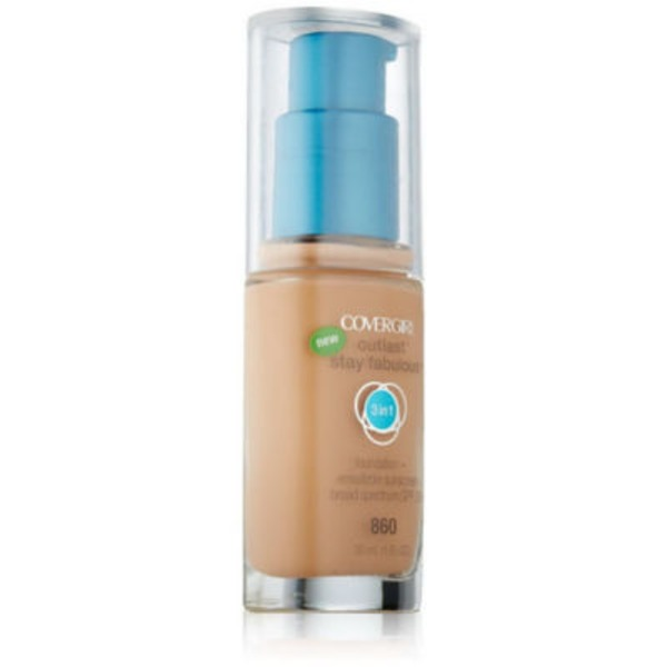 CoverGirl Outlast All Day COVERGIRL Outlast All-Day Stay Fabulous 3-in-1 Foundation, Classic Ivory 1 fl oz (30 ml)  Female Cosmetics