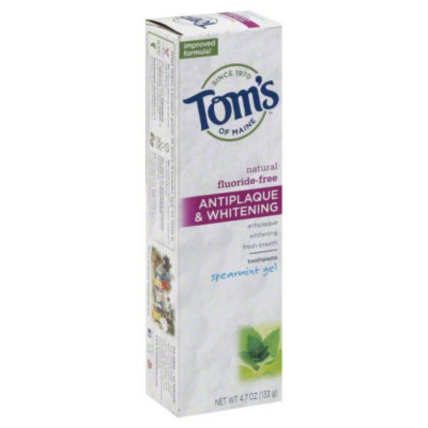 Tom's of Maine Fluoride-Free Antiplaque & Whitening Spearmint Gel