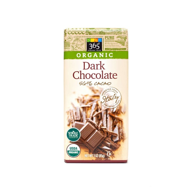 365 Organic 56% Cacao Dark Chocolate Bar