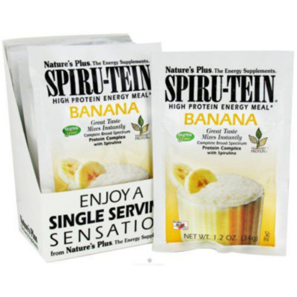 Nature's Plus Banana Spirutein High Protein Energy Meal Packet