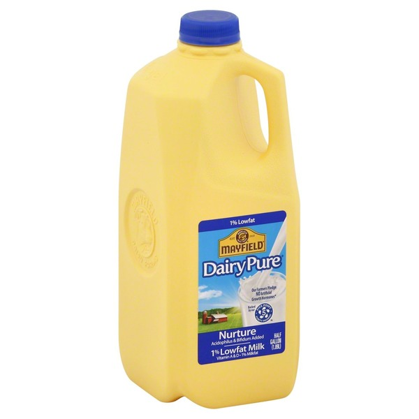 Mayfield Milk, Dairy Pure, 1% Lowfat, Jug