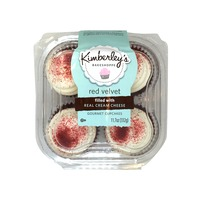 Kimberley's Bakeshoppe Gourmet Red Velvet Cupcakes, Real Cream Cheese Filled
