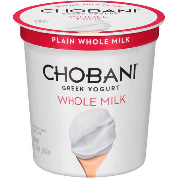Chobani Plain Whole Milk Greek Yogurt