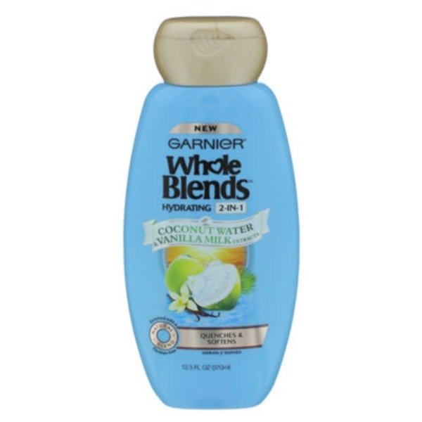 Whole Blends Hydrating 2-in-1 Coconut Water & Vanilla Milk Extracts Shampoo & Conditioner