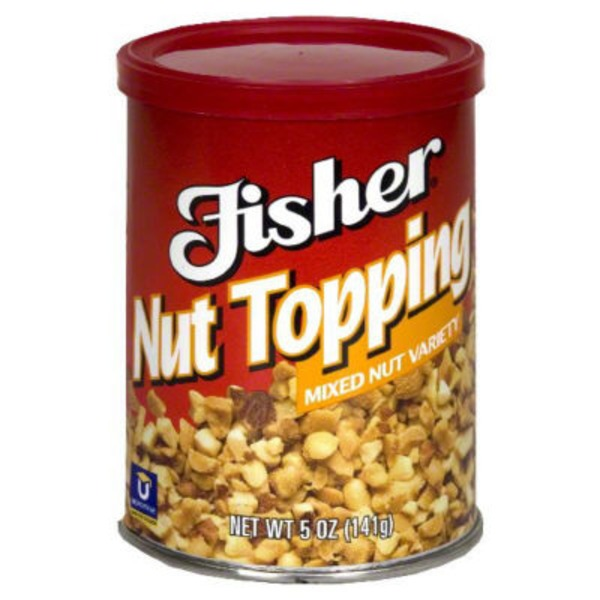 Fisher Nut Topping Ice Cream Toppers