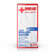 BAND-AID® Brand of First Aid Products Rolled Gauze, 4 Inches by 2.5 Yards