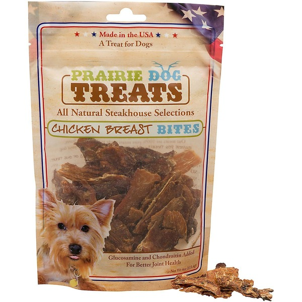 Prairie Dog Chicken Breast Jerky Bites Dog Treats