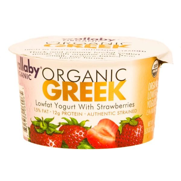 Wallaby Organic Greek Lowfat with Strawberries Yogurt