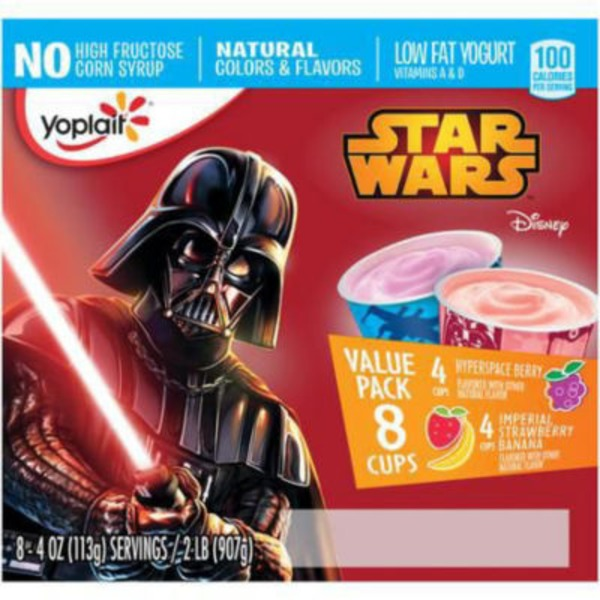 Yoplait Star Wars Hyperspace Berry/Imperial Strawberry Banana Variety Pack Low Fat Yogurt