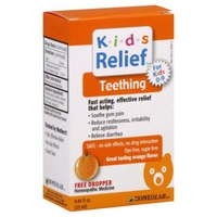 Kids Relief Teething Homeopathic Medicine Orange